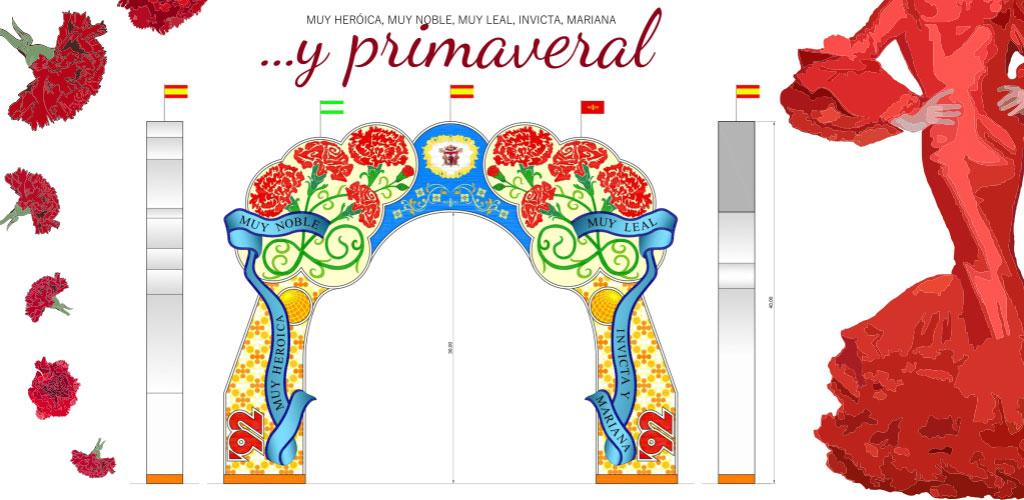 Propuesta de diseño para la portada de la Feria de abril de Sevilla 2017