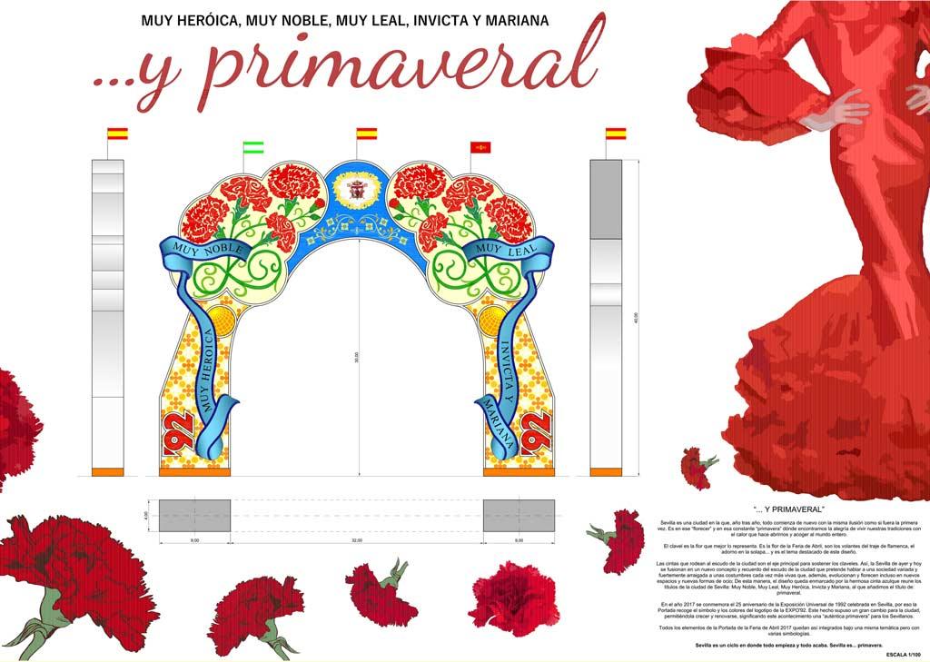 Diseño de Portada para la Feria de Abril 2017